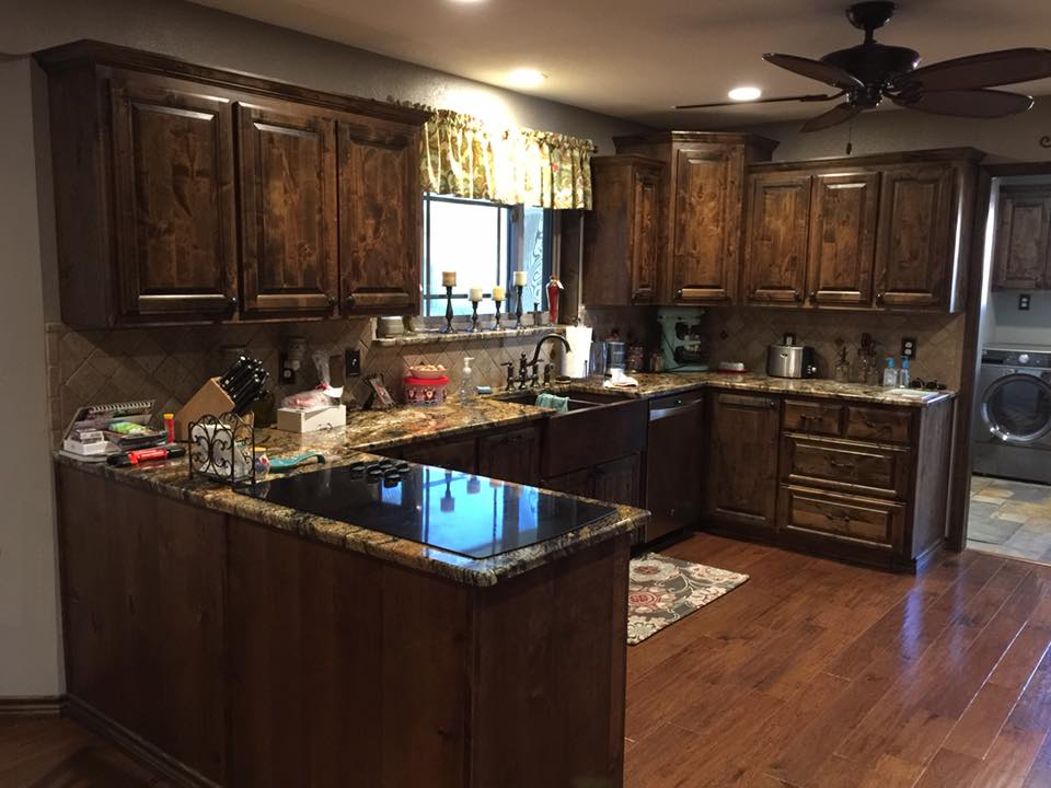 Kitchen Cabinets, Countertop and Winerack